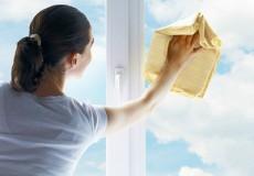 Lavage des vitres intérieures